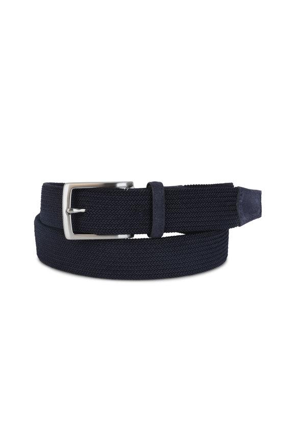 Torino Navy Blue Woven Elastic Belt