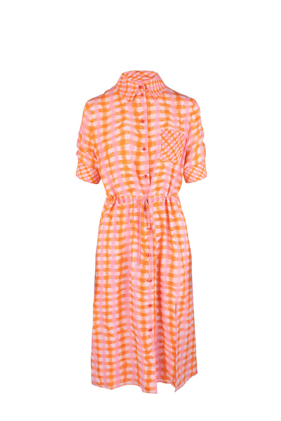 Altuzarra Tropicana Plaid Silk Shirtdress