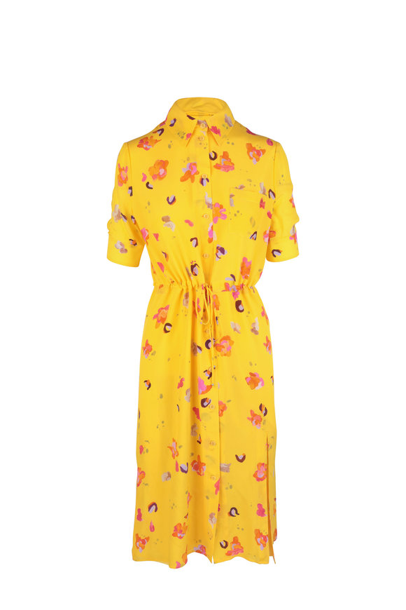 Altuzarra Pollen Floral Silk Shirtdress