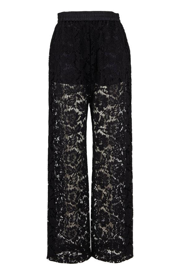 Valentino Black Sheer Lace Pant