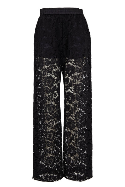 Valentino - Black Sheer Lace Pant