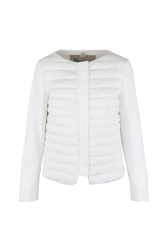 Herno Ivory Combo Puffer Coat