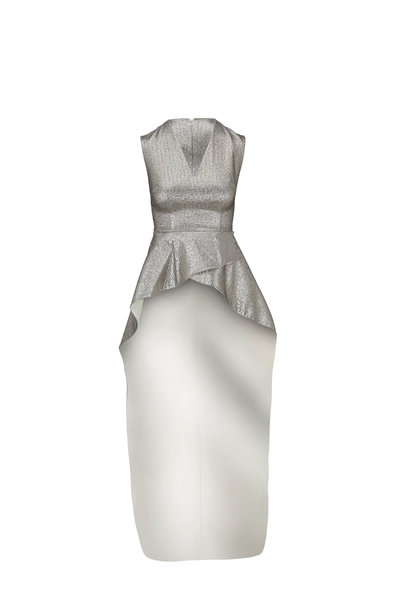 Safiyaa - Florence Silver & Ivory High-Low Top