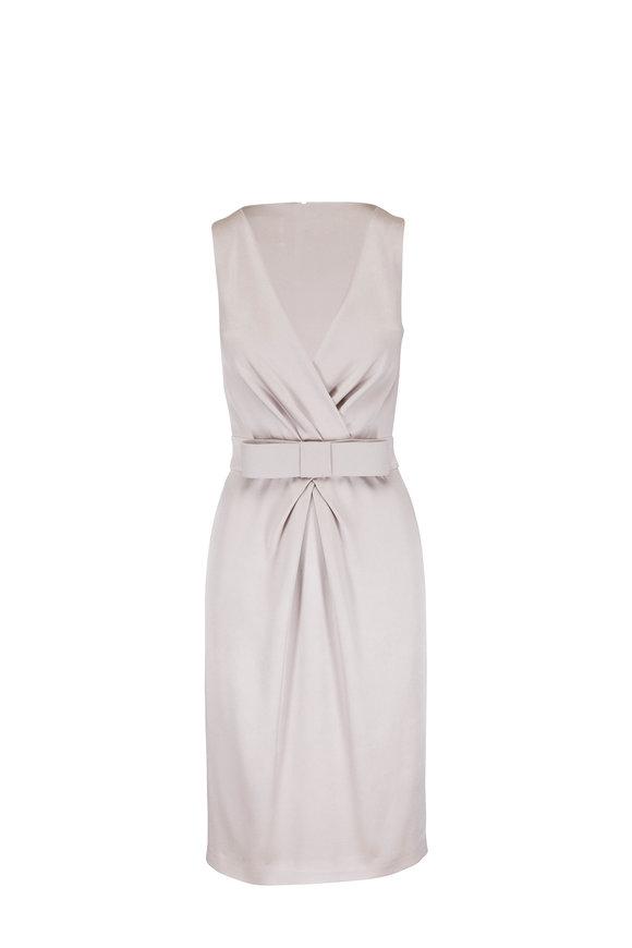 Olivine Gabbro Katharine Taupe Silk Dress