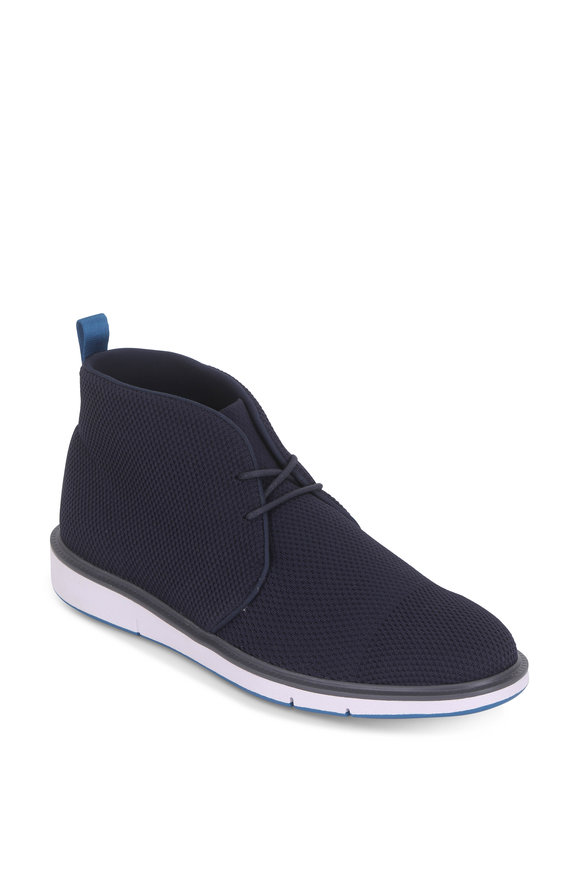 Swims Motion Navy & Seaport Blue Knit Chukka Boot