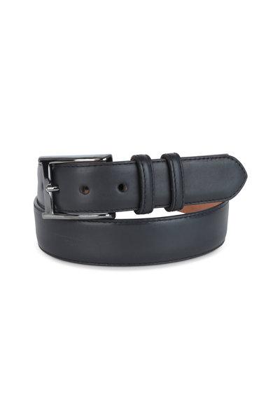W Kleinberg - Black Leather Belt