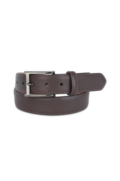 W Kleinberg - Chocolate Brown Leather Belt