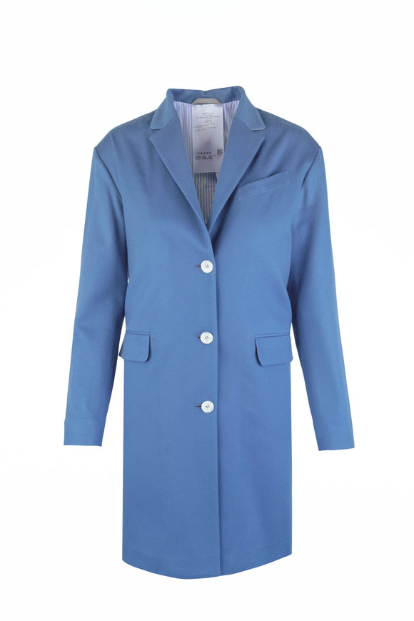 Kiton Light Blue Cashmere Coat