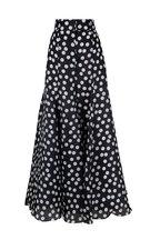 Carolina Herrera - Black & White Polka Dot Wide Leg Silk Pant