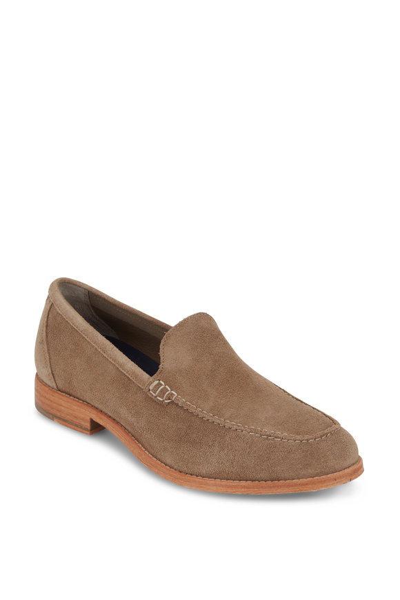 Cole Haan Feathercraft Grand Beige Suede Venetian Loafer