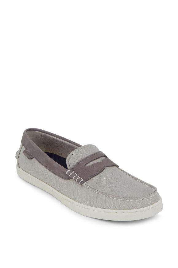Cole Haan Pinch Weekender Gray Linen Loafer