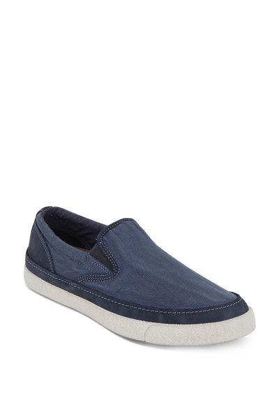 John Varvatos - Jet Blue Canvas Slip-On Sneaker