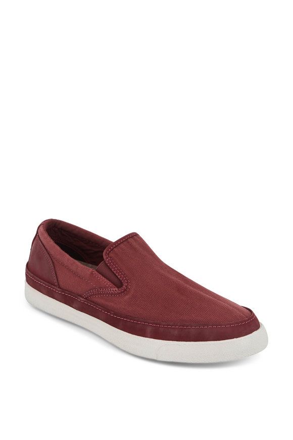 John Varvatos Jet Chianti Canvas Slip-On Sneaker