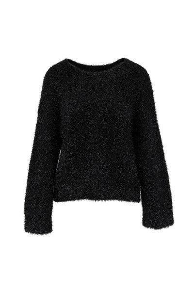Vince - Black Lurex Scoopneck Sweater