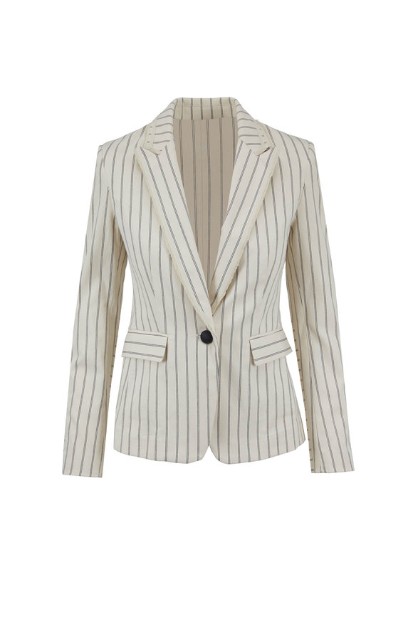 Rag & Bone Millie Ivory & Black Striped Blazer