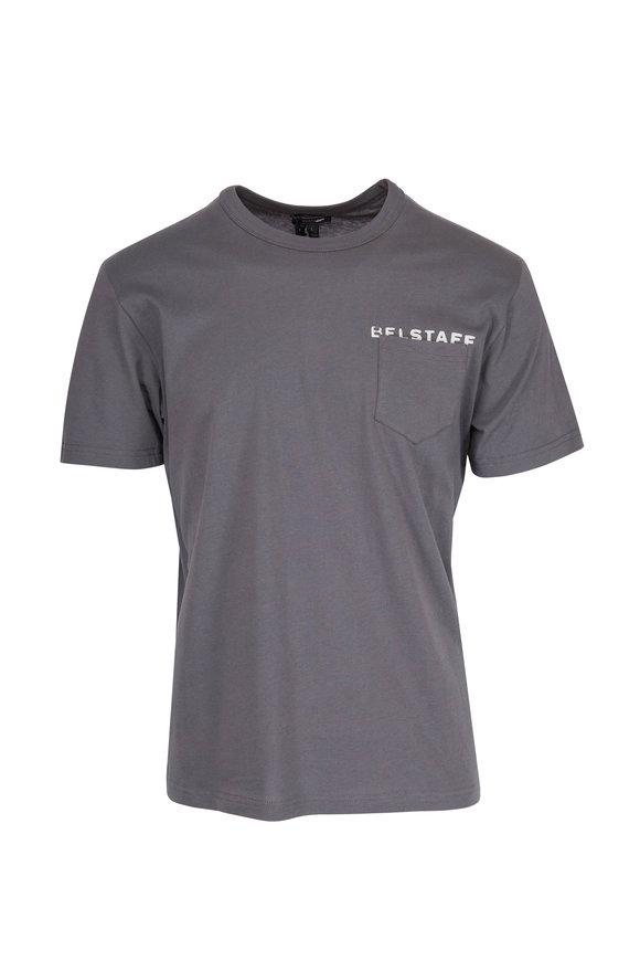 Belstaff Phoenix Gray Spray Paint Logo T-Shirt