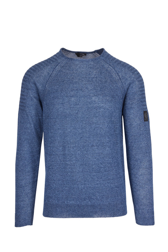 Belstaff Chilton Blue Lagoon Linen Sweater