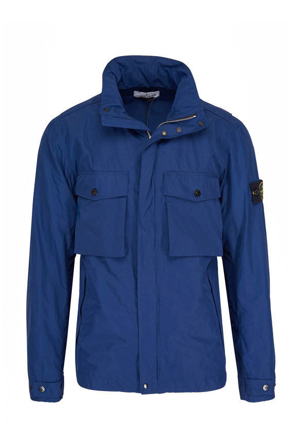 Stone Island Blue Chest Pocket Jacket