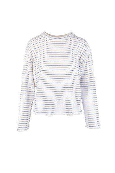Vince - Blue, Cream & Tan Striped Sweater