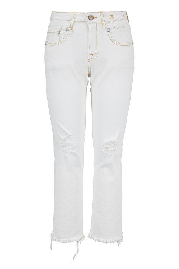 R13 Boy White Straight Leg Jean