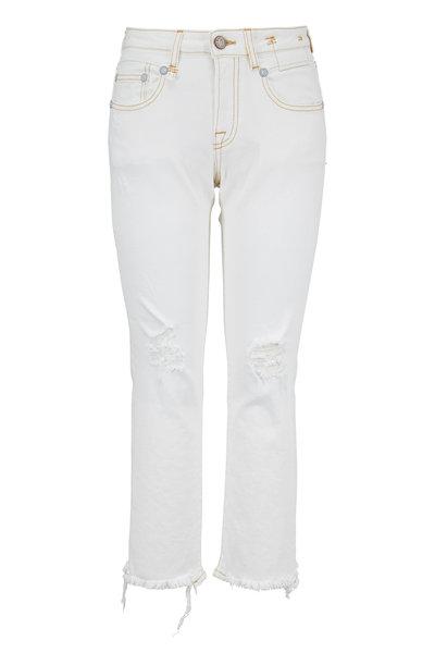 R13 - Boy White Straight Leg Jean