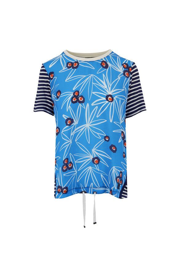 Bogner Finna Navy & Orange Floral Short Sleeve Top