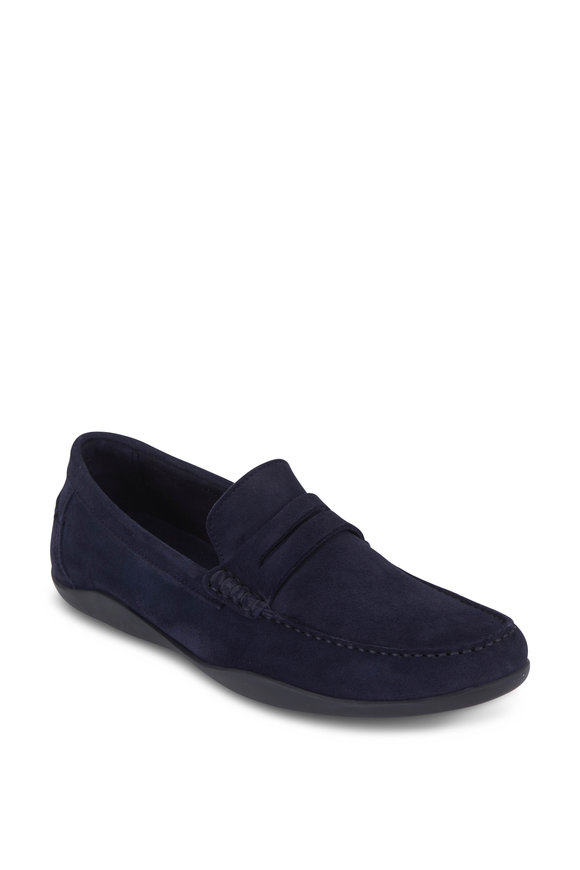 Harrys of London Basel Midnight Blue Suede Driver