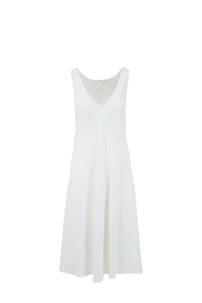 Peter Cohen - White Stretch Linen Sleeveless Dress