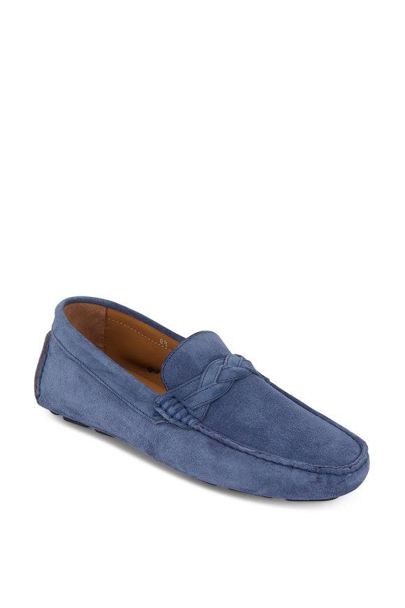 Trask Rivers Denim Blue Italian Suede Driver