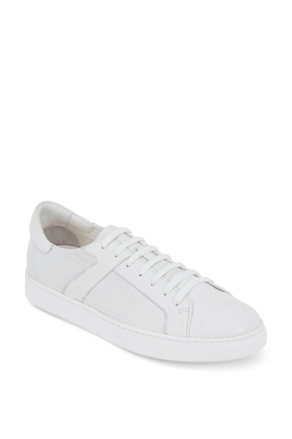 Trask Aaron White Leather Sneaker