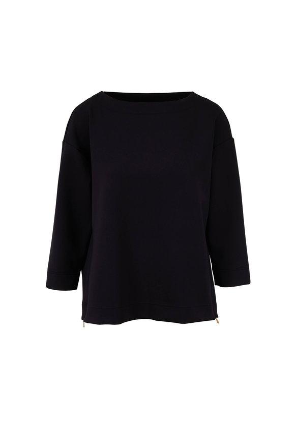Bogner Agatha Black Stretch Jersey Top