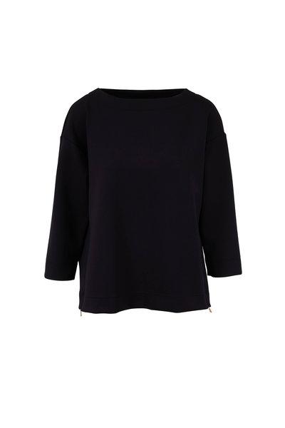 Bogner - Agatha Black Stretch Jersey Top