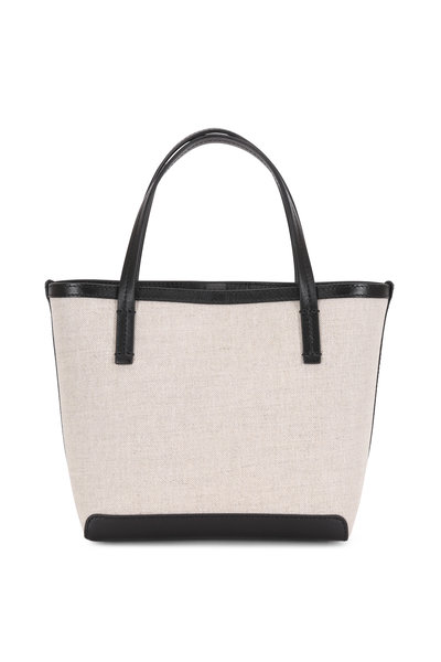 The Row - Natural & Black Canvas Small Park Tote