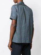 Paul Smith - Green Geometric Print Short Sleeve Sport Shirt