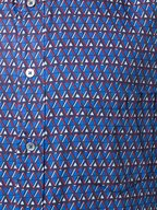 Paul Smith - Navy Geometric Print Short Sleeve Sport Shirt