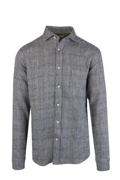 Inis Meain Knitting Co. - Mara Gray Melange Linen Blend Overshirt