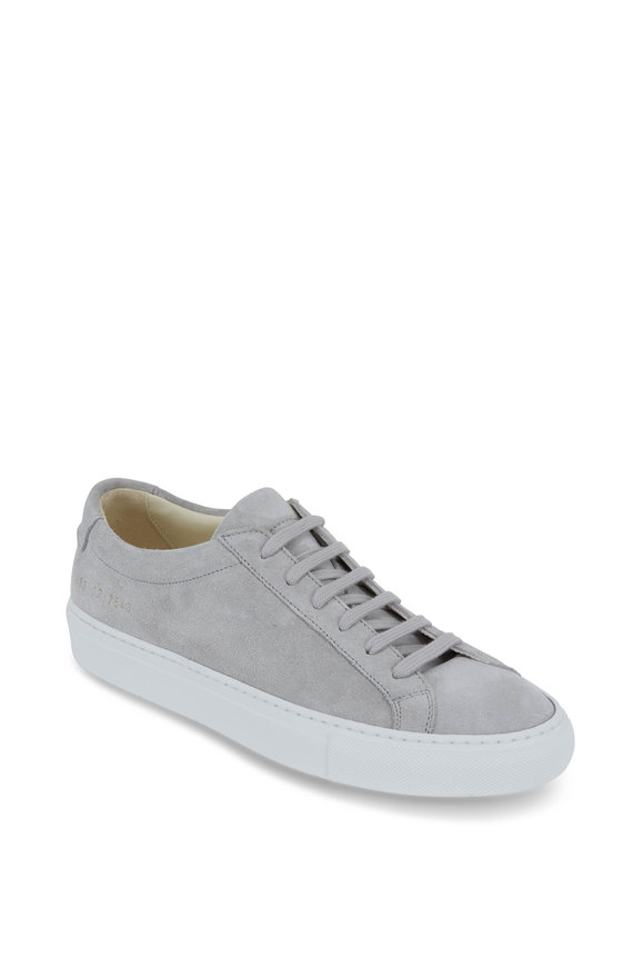 WOMAN by COMMON PROJECTS Women's Original Achilles Gray Suede Sneaker