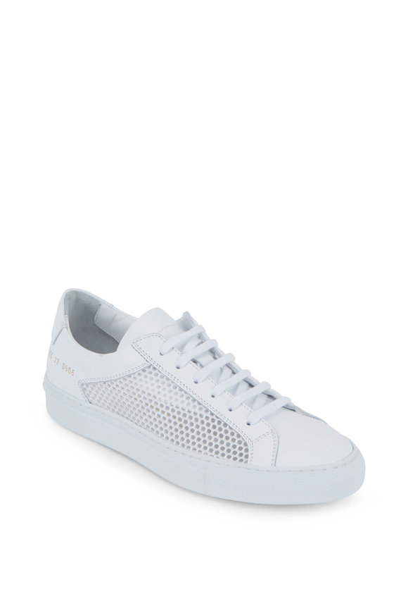 WOMAN by COMMON PROJECTS Achilles White Mesh Low-Top Sneaker