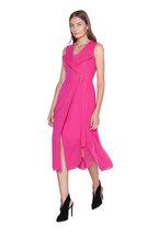 Akris - Pink Cotton Voile Wrap-Effect Sleeveless Dress