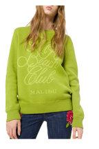 Michael Kors Collection - Pear & Lime Green Beach Club Sweatshirt
