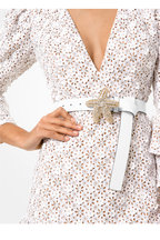 Michael Kors Collection - Optic White Floral Eyelet Tiered Dress