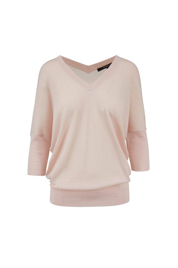 Derek Lam Ezme Blush Cashmere & Silk Batwing Sweater