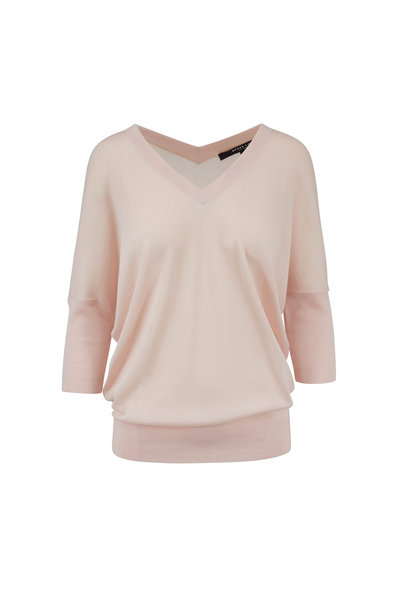 Derek Lam - Ezme Blush Cashmere & Silk Batwing Sweater
