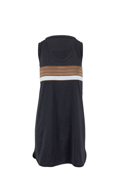 Brunello Cucinelli - Oynx Jersey Bicolor Monili Stripe Tunic Dress