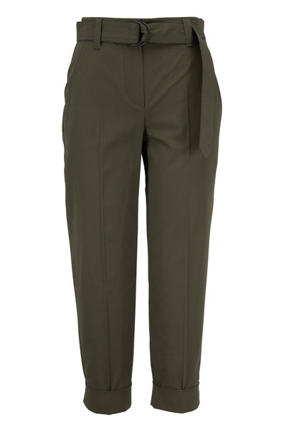 Brunello Cucinelli - Exclusive Military Cotton Crêpe Belted Pant
