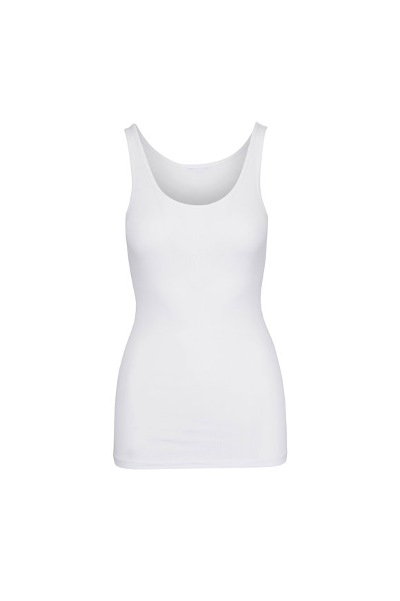 James Perse Daily White Cotton Tank