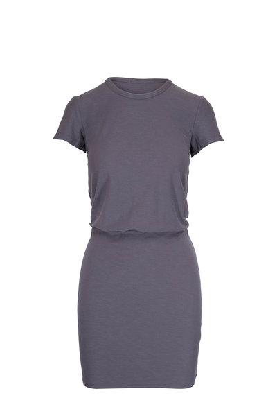 James Perse - Blouson Charcoal Stretch Jersey T-Shirt Dress