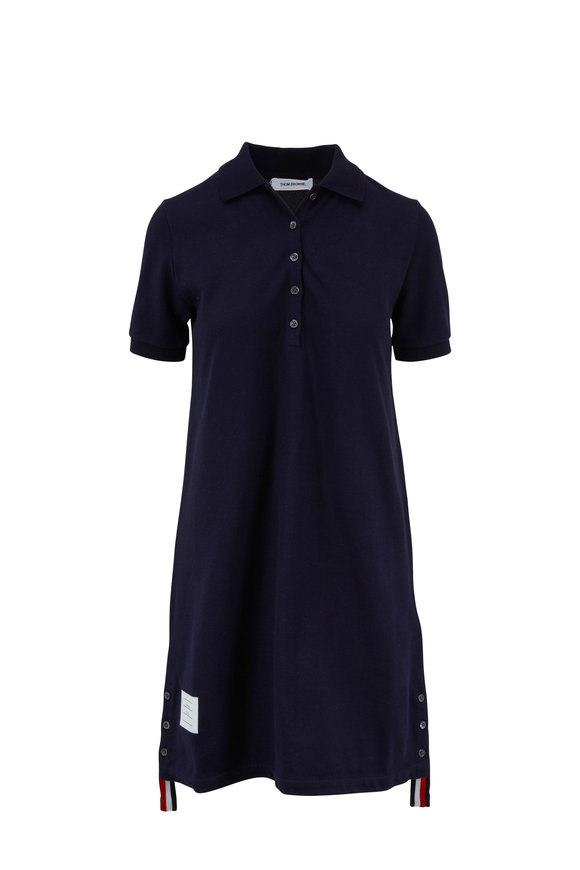Thom Browne Classic Navy Piqué Short Sleeve Polo Dress