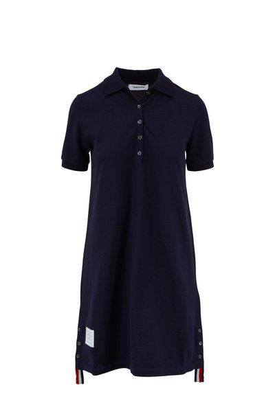 Thom Browne - Classic Navy Piqué Short Sleeve Polo Dress