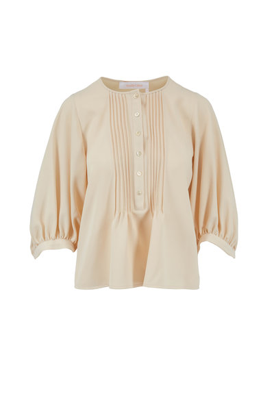 See by Chloé - Milk Three-Quarter Gathered Sleeve Blouse